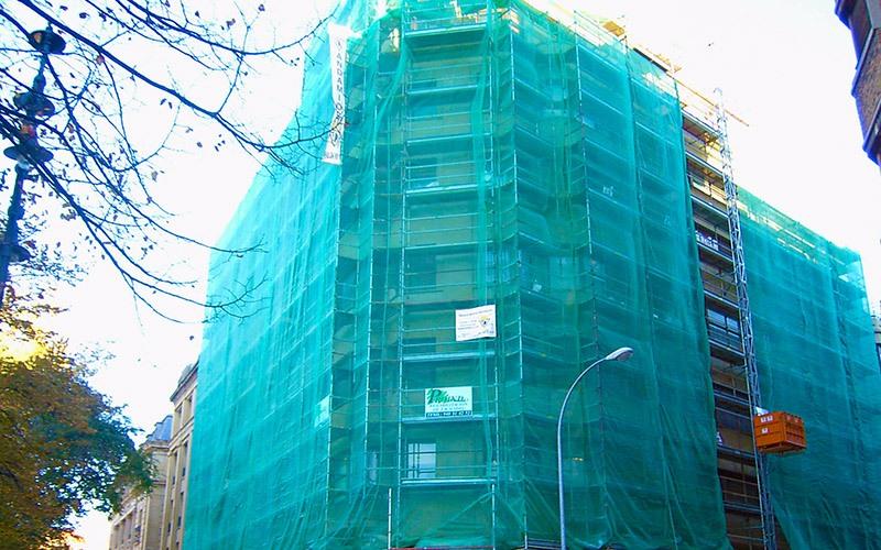 malla construcción